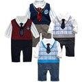 Мальчик одежда, Новорожденный мальчик ползунки, Младенцы боди, Джентльмен стиль ползунки, Infantil мальчик в целом