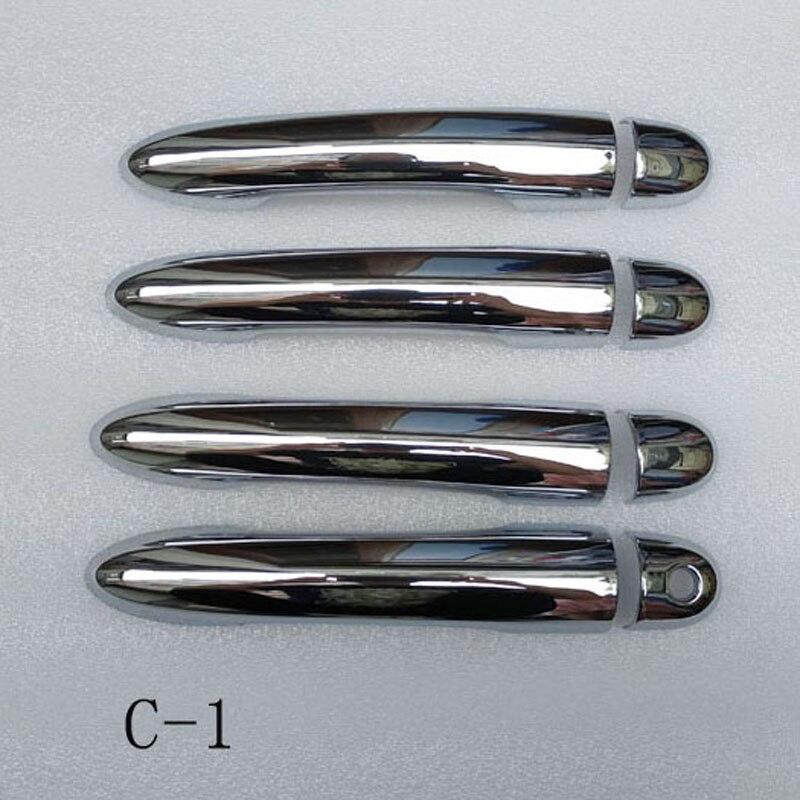 Pour Renault Clio 3 iii mk3 poignée de porte poignées couvre plastique Chrome accessoires