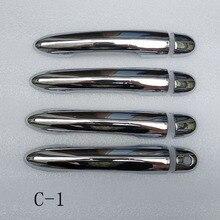 สำหรับRenault Clio 3 Iii Mk3ประตูจับจับครอบคลุมพลาสติกอุปกรณ์เสริมChrome
