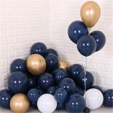 30 шт. воздушные шары в середине ночи синие темно синие фотообои маленькие латексные пастельные шары для девичника детский день рождения