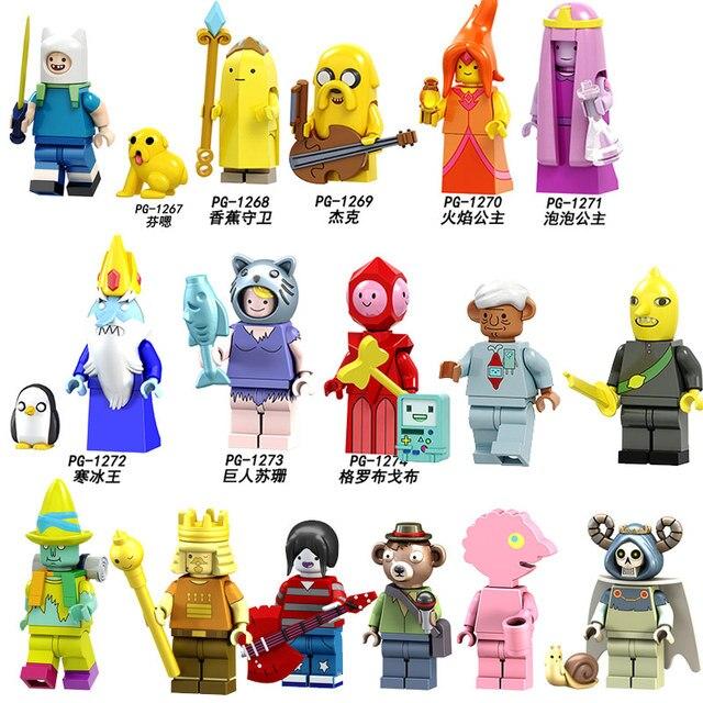 US $2 25 |Aliexpress com : Buy POGO Building Blocks Super Heroes Single  Sale Adventure Time Legoings Finn and Jake's mini dolls figures Children  Toys