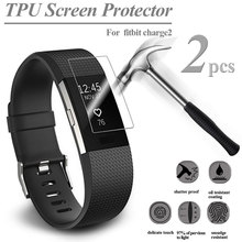 2PCS HD TPU Explosion-Proof Screen Protector For Fitbit Charge 2 Watch Ultra Thin Screen Protector Film ollivan hd protective film for fitbit charge 2 charge2 band anti scratch tpu screen protectors bracelet screen clear ultra thin