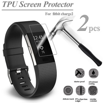 2PCS HD TPU Explosion-Proof Screen Protector For Fitbit Charge 2 Watch Ultra Thin Screen Protector Film Smart Accessories