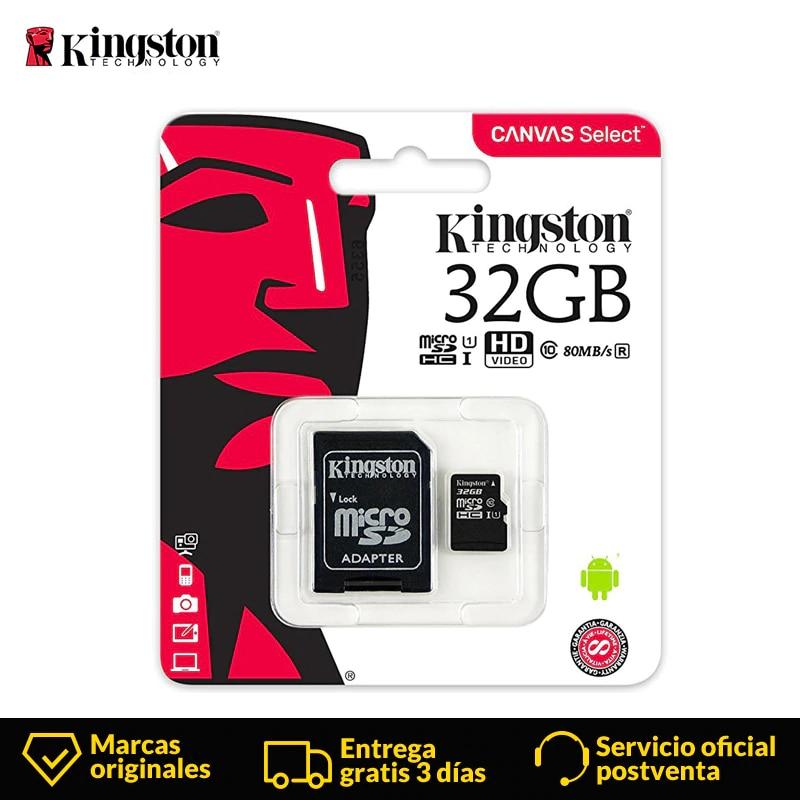 Kingston Technology tarjeta Micro SD 32 GB de tarjeta de memoria MicroSD Class10 UHS-1 flash tarjeta MicroSDHC TF/SD tarjetas el teléfono inteligente de la tableta