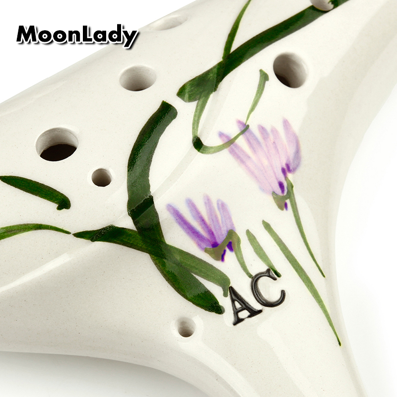 12 holes alto c ocarina white flower element music instruments 12 holes alto c ocarina white flower element music instruments chinese high quality woodwind instrument easy to learn in flute from sports entertainment mightylinksfo