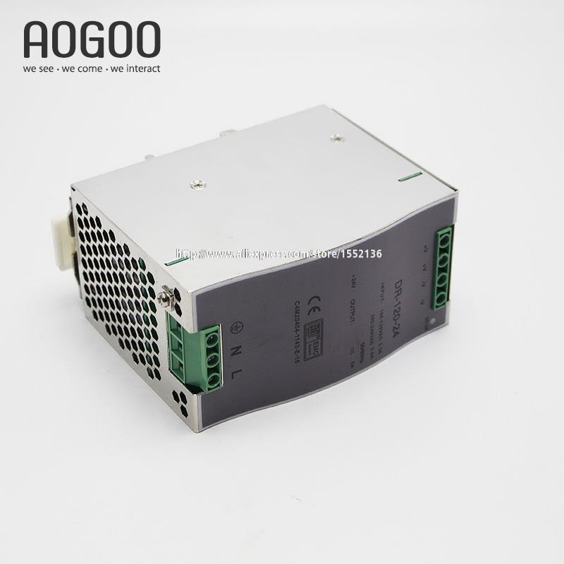 Din-Rail Series 120W 5V 24A Single Out  LED Light Devices Switching Power Supply AC-DC PSU 100/110/220/230V CE&ROHS ac dc dr 60 5v 60w 5vdc switching power supply din rail for led light free shipping