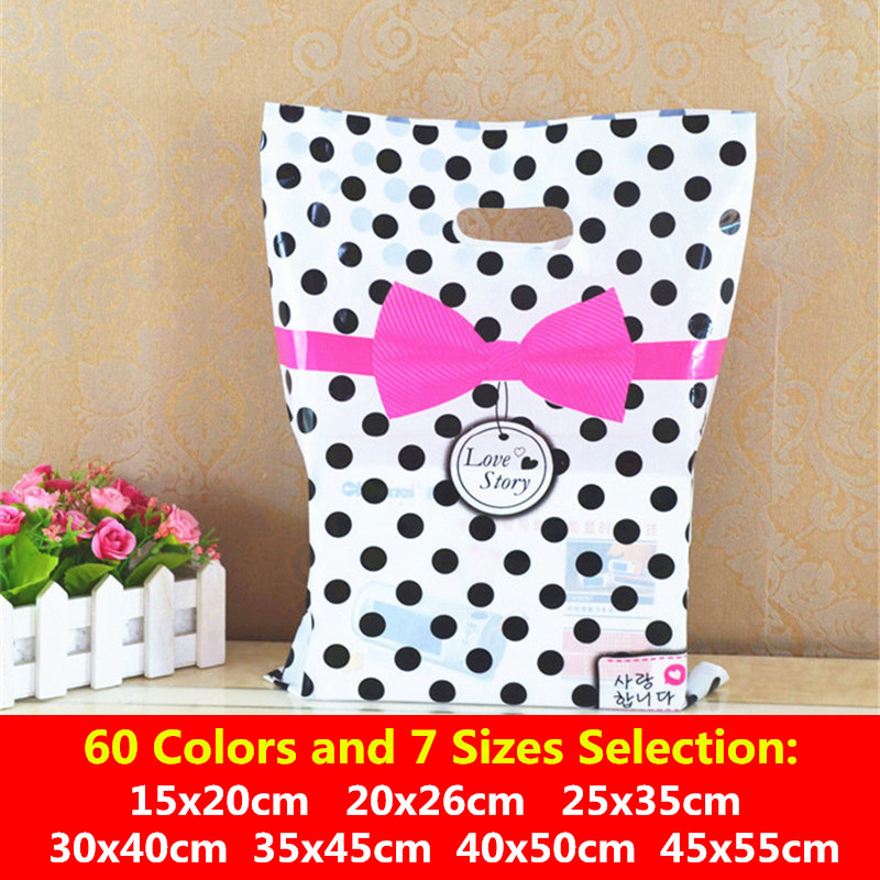 20x26cm Big Plastic Bags Shops Clothes Gift Bags With Handles Wedding Birthday Party Supplies Gift Bags Cookies Storage Bag