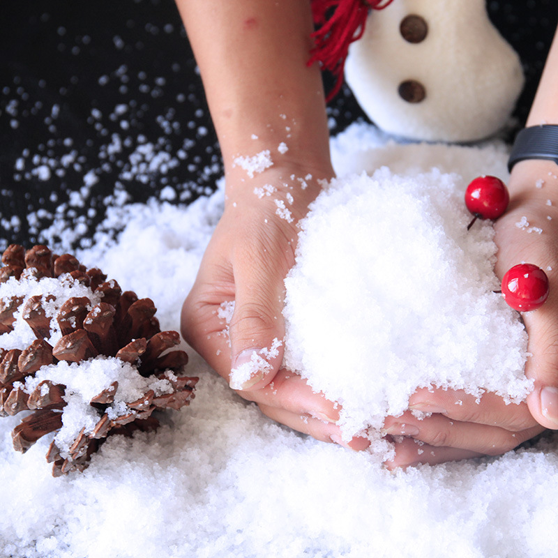 1pcs Fluffy Slime Artificial Snow Instant Snow Powder For Children Charms Lizun Slime DIY Kit Accessories Supplies Funny Gift