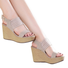 2016 New Summer Women Platform Sandals Wedges Shoes For Women Casual Elegant Women High Heel Shoes Women Sandals BT150