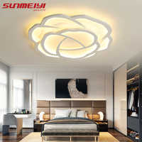 Luces de techo LED rosa blanca para sala de estar dormitorio comedor regulable LED lámpara de cocina moderna iluminación de techo creativa