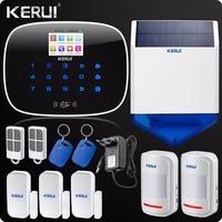 English Russian Voice App Control GSM RFID Home Alarm System House Security Alarm Pet Immune PIR