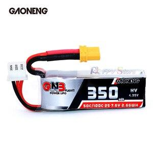 Image 4 - Gaoneng GNB 350mAh 2S 7.6V  HV 4.35V 50C/100C Lipo Battery XT30 Plug for Beta75X RC Drone FPV Racing