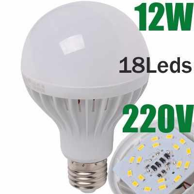 E27 Led Lamp White Warm White E14 Led 220v Candle Light Spotlight led light bulb 2835