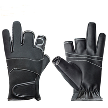 Sea Fly Fishing  Fingerless  Exposed  Anti-Slip Outdoor 3 Cut Fingers   Waterproof Hunting Skidproof  Breathable  Gloves