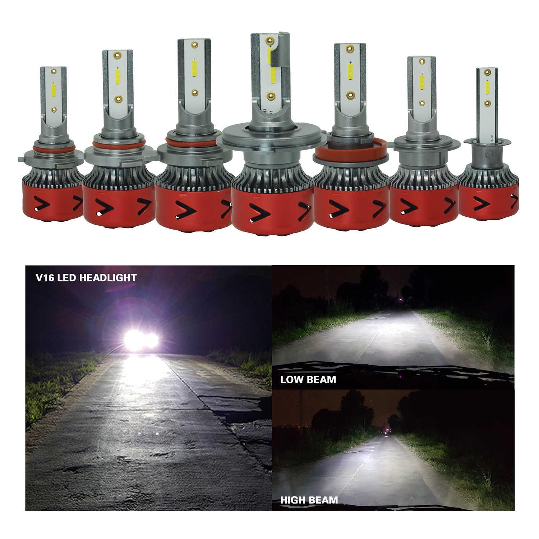 Новые продукты нового поколения автомобильные лампы Led V16 H1 H8 H9 H4 H7 H11 9012 Led 9008 H13 9004 9006 Авто фары светодиодные H13 Li ion аккумулятор