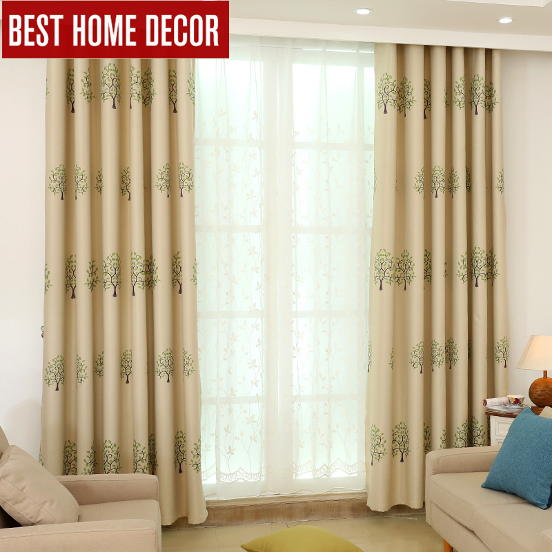 bhd floral printed jacquard blackout curtains for window blinds finished window blackout curtain for living room
