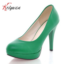 4colors brand design shoes round toe high quality 2015 new  Pumps candy color spring summer thin high heels shoes lady pump