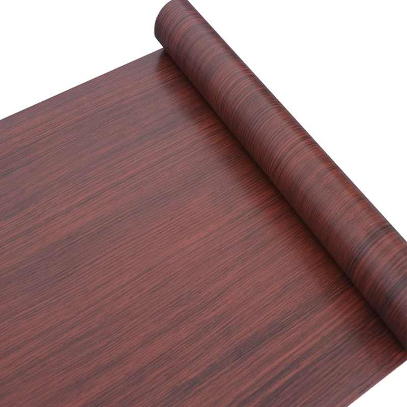 PVC Vinyl Decorative Film Self Adhesive Wallpaper Home Decor Wood Shelf Liner Contact Paper for Kitchen Cabinet DIY Wall Sticker