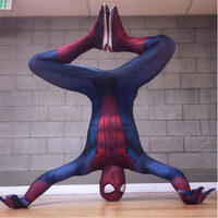 Adult Black Spandex The Amazing Spider Man 3 Superhero Cape Anime Cosplay Carnival Costume Superman Halloween One Piece