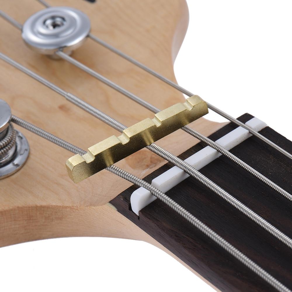 buy hot sale pre slotted brass string nut for 4 string electric bass guitar. Black Bedroom Furniture Sets. Home Design Ideas