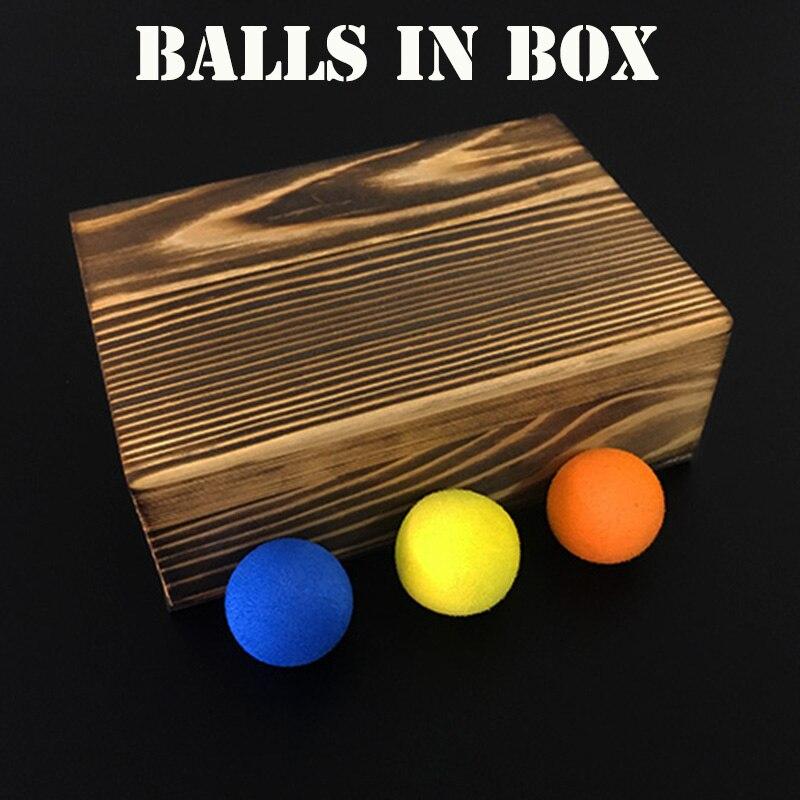 Boules en boîte (Deluxe) tours de magie 3 boules disparaissent apparaissent dans la boîte vide Magia magicien gros plan Illusions Gimmick Prop mentalisme
