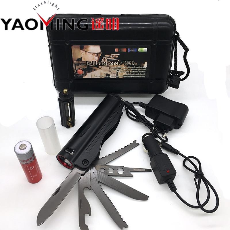 Pertahanan diri Dipimpin Senter Taktis Linterna Cree Q5 Multifungsi - Pencahayaan portabel