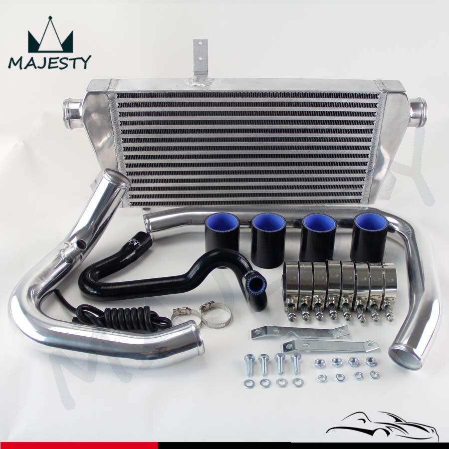 Front Mount Intercooler tuyau tuyauterie Kit pour 96-01 VW PASSAT AUDI A4 B5 1.8 T FMIC Bleu/noir/Rouge
