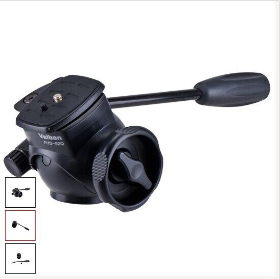 ФОТО New Velbon FHD-52Q Fluid Head w/ QB-4 Quick Release for Video Camera Camcorder