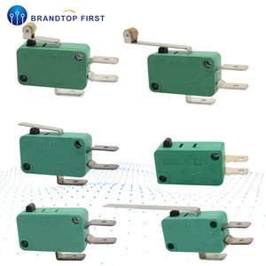 Micro Limit Switches 16A 250V 125V 6.3mm 3 Pins SPDT Micro Switch Arc Roller Lever Touch Switch Microswitch