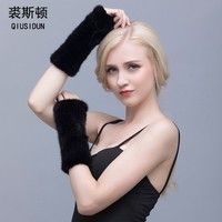 Winter Mink Fur Gloves For Women High Real Fur Gloves 2016 New Women 20CM Fashion Genuine