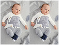 2017 Fashion baby boy clothes baby clothing cotton Long sleeve elephant T-shirt+pants 2/pcs newborn baby Romper roupas de