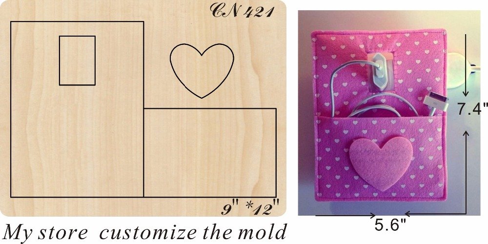 Pink handmade bag new wooden mould cutting dies for scrapbooking Thickness 15 8mm