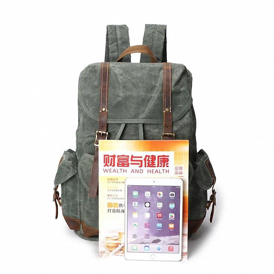 Men Laptop Backpack Rucksack Waterproof Canvas School Travel Backpacks For Teenage Male Notebook Bagpack Computer Knapsack 2053