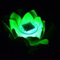10 قطع الصمام الشمسية لوتس/زنبق الماء فانوس ضوء led العائم يارد بركة حديقة بركة ماء تعويم متمنيا ليلة ضوء ZA5596