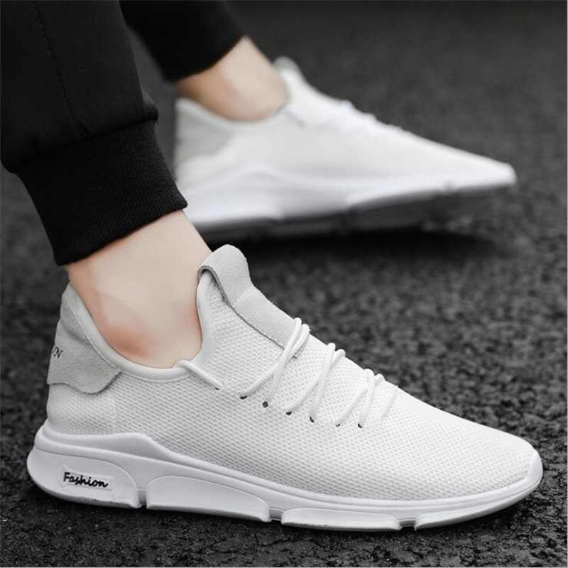 OLOMM nouveau déodorant respirant maille hommes chaussures décontractées Version coréenne chaussures hommes blanc mâle baskets chaussures à lacets rouges