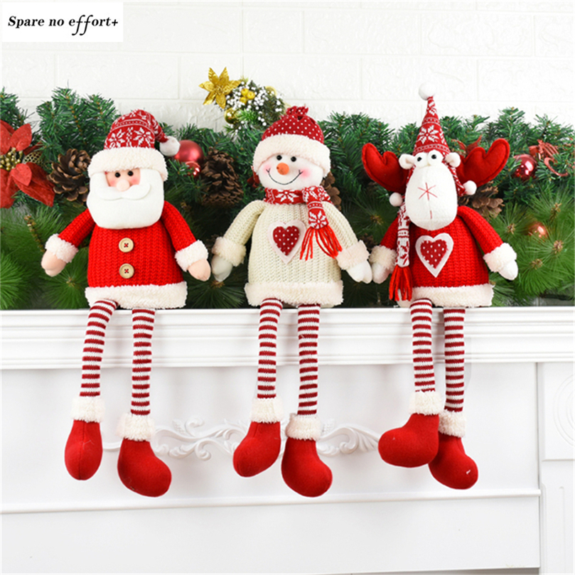 Christmas Tree Decorations Aliexpress: Cute Gift Red Santa Claus Christmas Decorations For Home