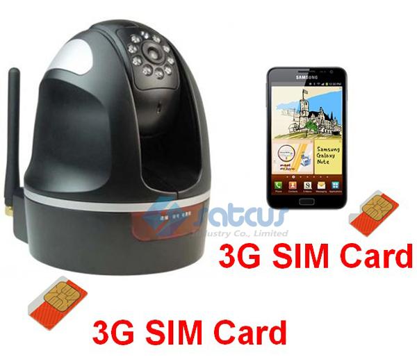 WCDMA 3G Wireless CCTV IR Dia Noite Pan Tilt Câmera de Vigilância Gravador Zoom Digital de 3x GD2825