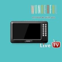 Portable 4.3 pouces Lcd Tv isdb t complet Seg Fm Rechargeable Tv pour les films en direct musique Fm à tout moment prise ue