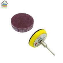 20PC 50mm/2inch 40 Grit Sanding Disc Paper & 1PC Disc Polishing Pad Plate For Sander Dremel Electric Grinder Abrasive Tools