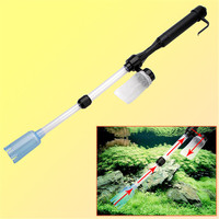 ZHIYANG 1Pc Aquarium Battery Syphon Operated Fish Tank Vacuum Gravel Water Filter Clean Siphon Filter Cleaner