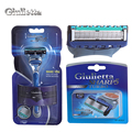 Giulietta Brand Face Shaving Blade Plastic And Stainless Steel Material Shaving Razor Quality Razor Blade 1 Holder With 5 Blades