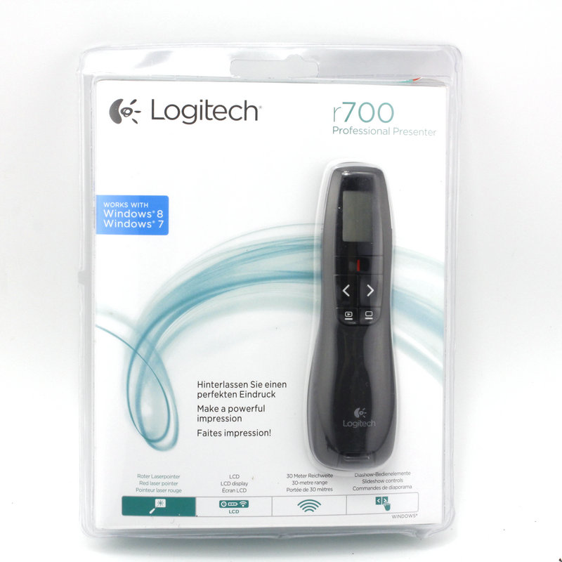 Logitech R700 Remote Control Page Turning red Laser Pointers Laser Pen Presentation presenter pen 2.4 GHz Wireless Presenter abcnovel a180 wireless 2 4ghz remote control presenter black silver 1 x aaa
