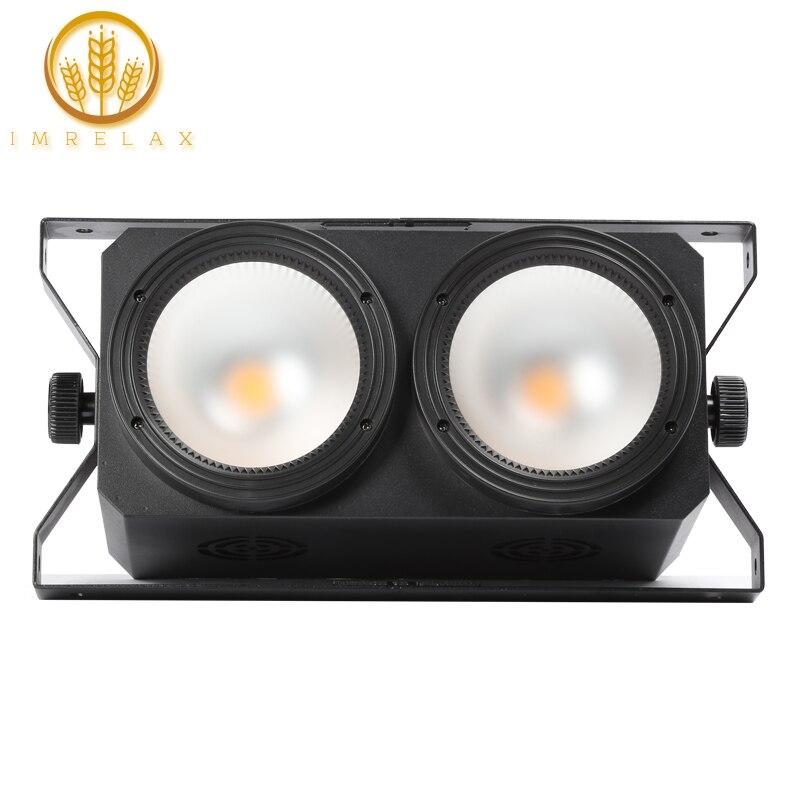 IMRELAX New 2 100w COB LED Audience Light with Anti Glare Lens Warm White DMX LED