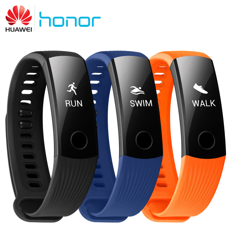 Original Huawei Honor Band 3 Smart Wristband Bracelet Swimmable 5ATM 0.91
