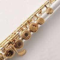 Standards Flute FL 471 Gold Key Carved Floral Designs Flutes 17 Holes Closed Open Holes