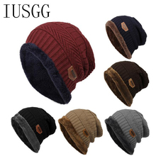2017 Arrival Beanies Knitted Hat Men's Winter Hats Warm Moto Fur Winter Beanie Fleece Knit Bonnet Hat Number Cap Winter Warm Hat все цены