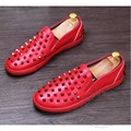 Spikes Stud Mens Loafers Leather Matte Solid Color Loafers Men Men Loafers Metal Head Cow Split Elevator Dimensiona