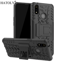 OPPO Realme X Lite Case Shockproof Armor Shell Hard Rubber TPU Back Phone Cover for