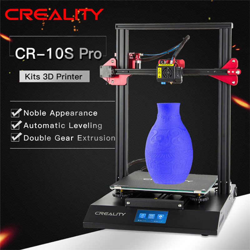 CR-10S Pro Meratakan Auto Sensor Printer 4.3 Inci LCD Resume Printing Filament Deteksi Funtion Meanwell Power Creality 3D