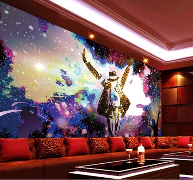 custom 3d photo wallpaper mural living room michael Jackson concert 3d painting sofa TV background wall non-woven wall sticker 3d wallpaper custom mural non woven wall sticker black and white wood road snow tv setting wall painting photo wallpaper for 3d